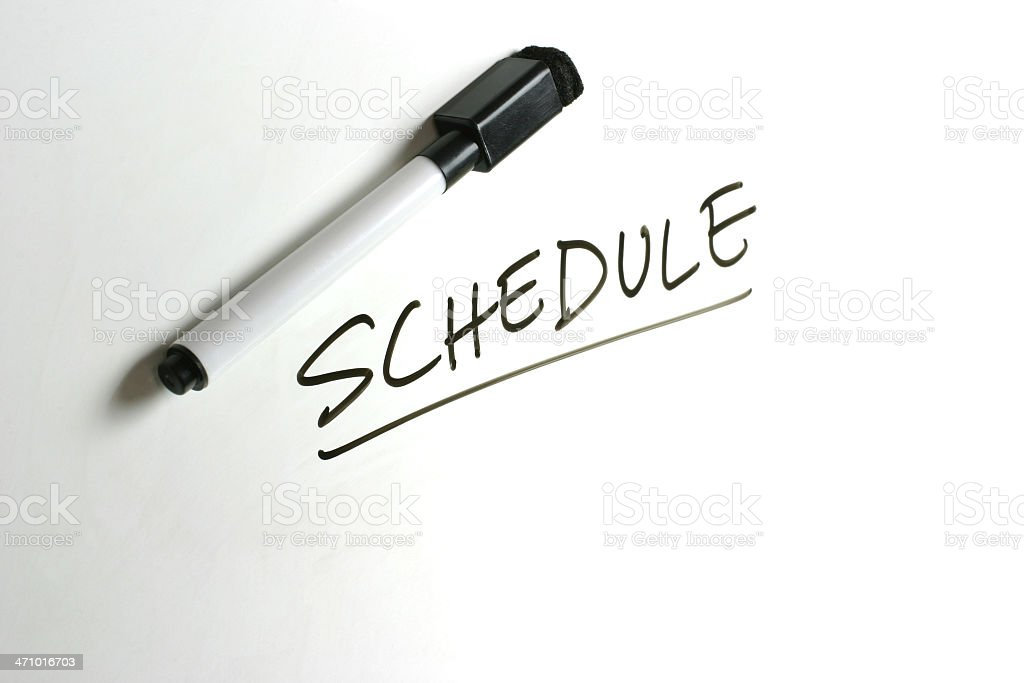 White Board - Schedule royalty-free stock photo