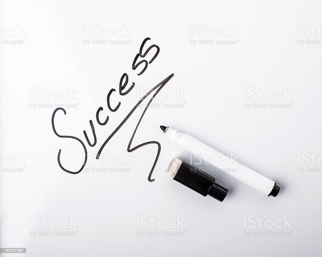 white board - success royalty-free stock photo