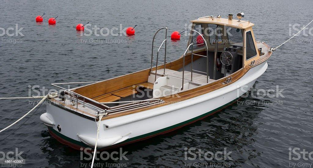 White boat royalty-free stock photo