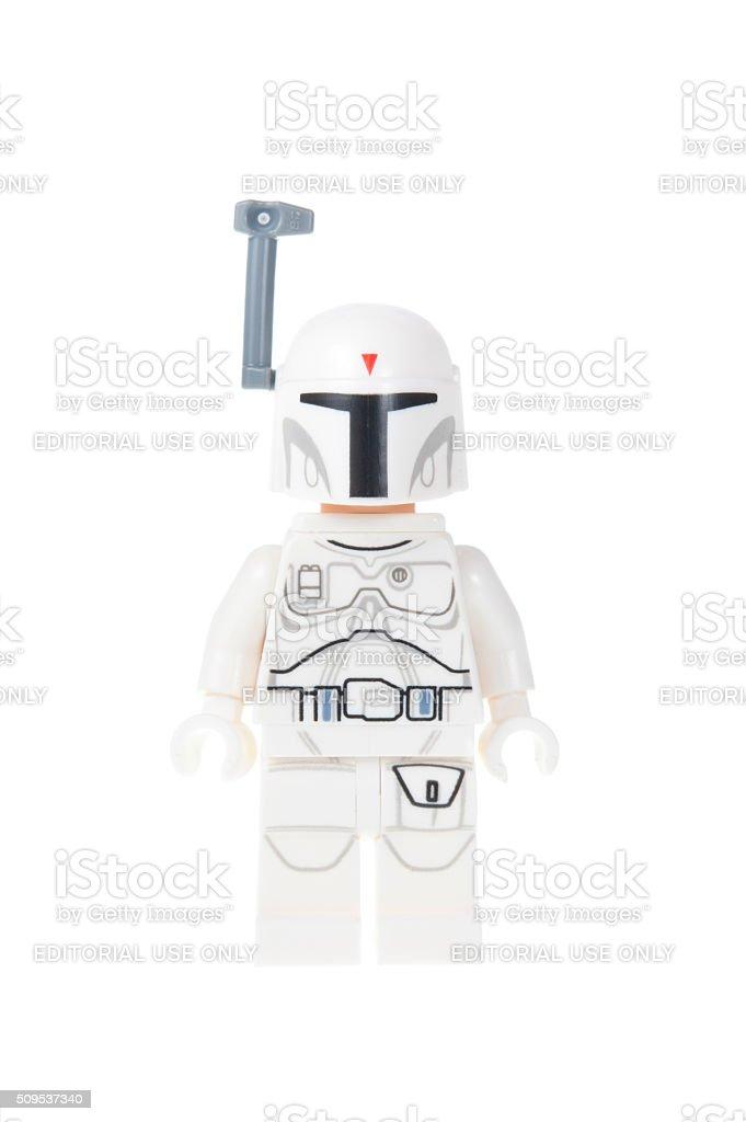 White Boba Fett Minifigure stock photo