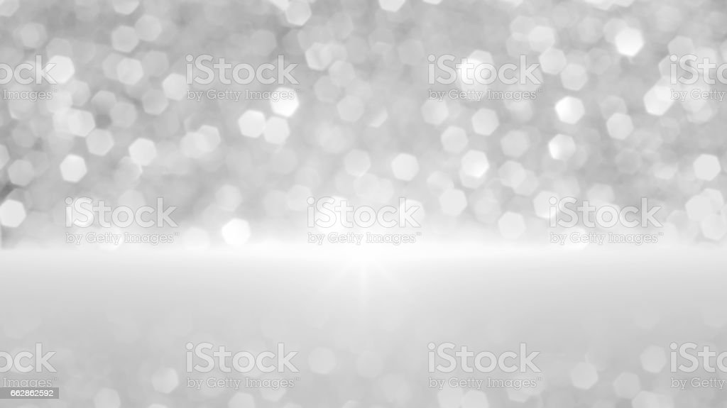 White bokeh defocused lights for a background. stock photo