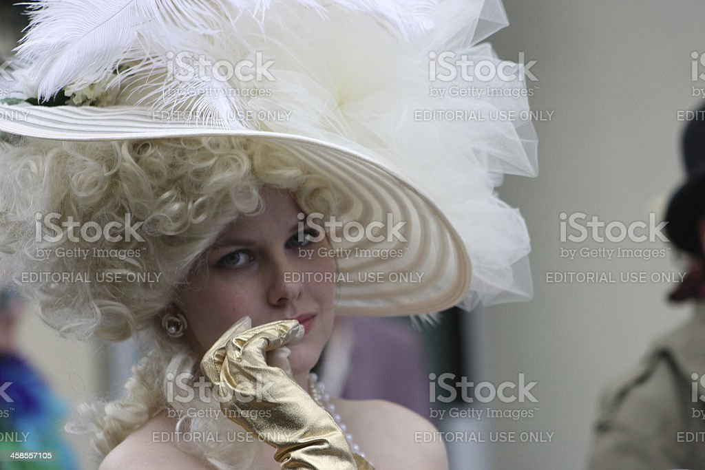 White Bonnet royalty-free stock photo