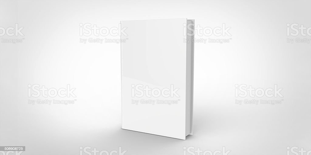 white Book cover isolated on plain background stock photo