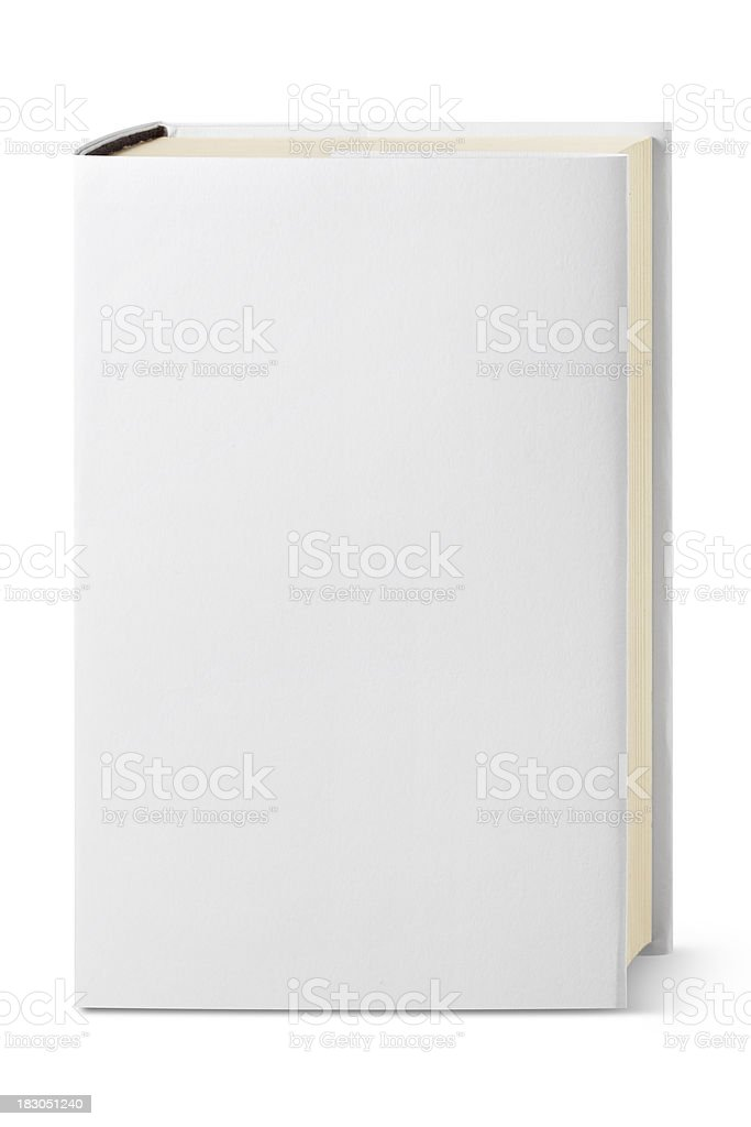White book. stock photo