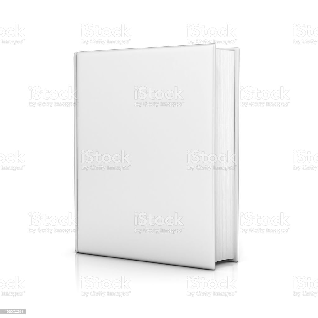 white book with blank covers stock photo