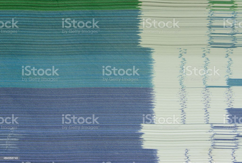 White book with trendy binding stock photo