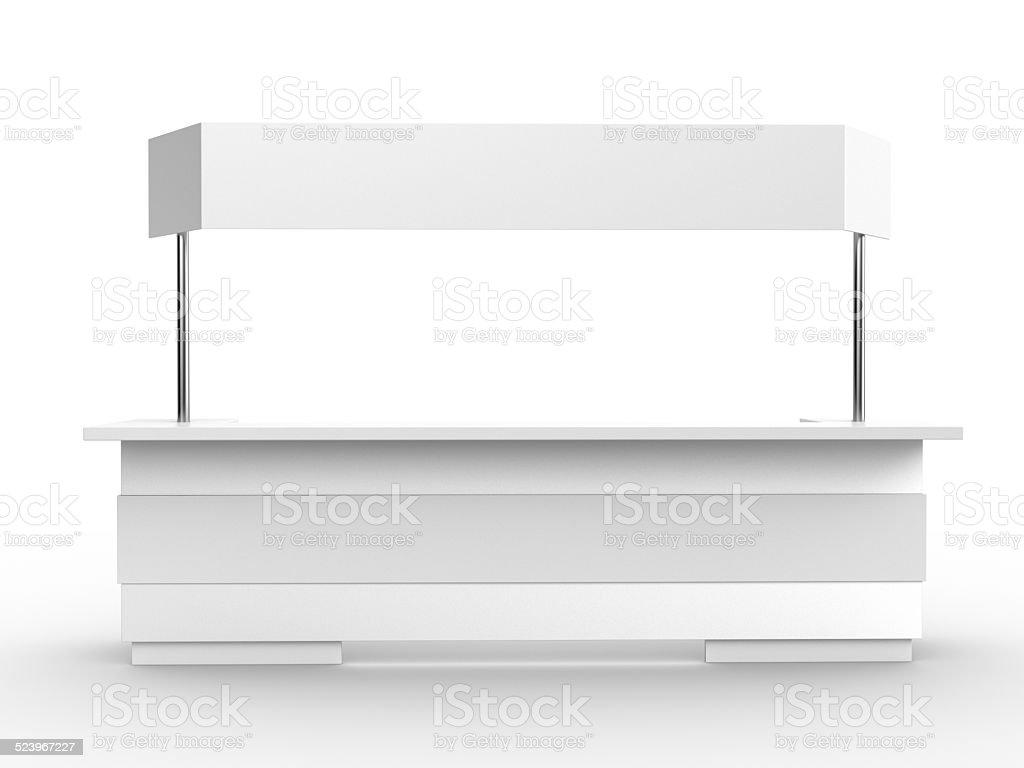 white booth or kiosk stock photo