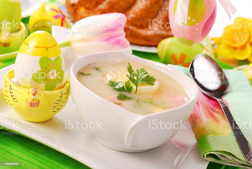 white borscht for  easter royalty-free stock photo