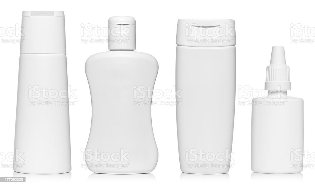 White bottles royalty-free stock photo
