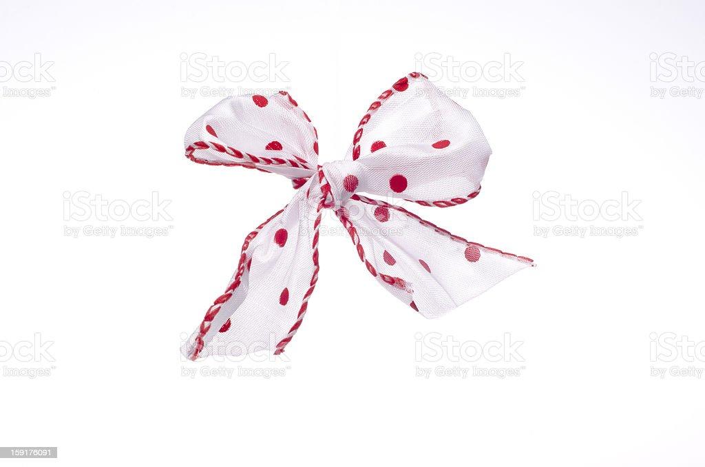 White bow royalty-free stock photo