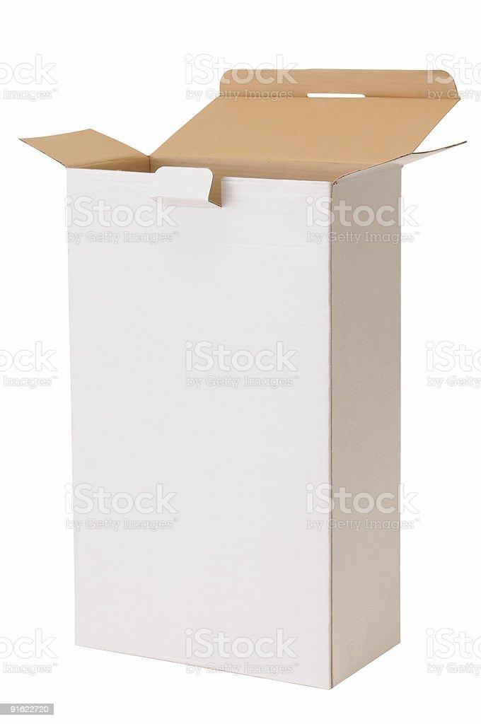 White box. Clipping path. stock photo