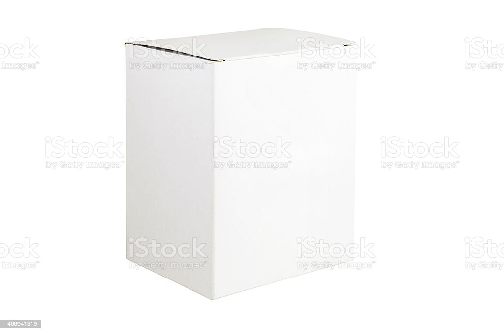 White box isolated royalty-free stock photo