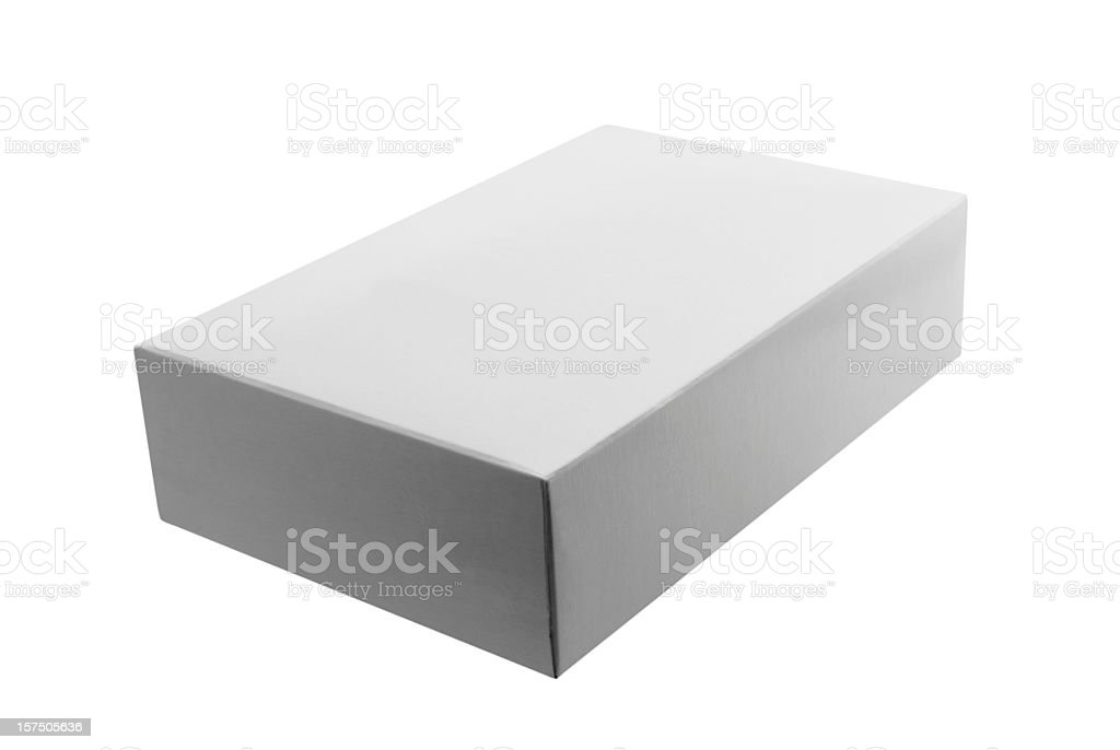 White Box - lying flat no tab royalty-free stock photo