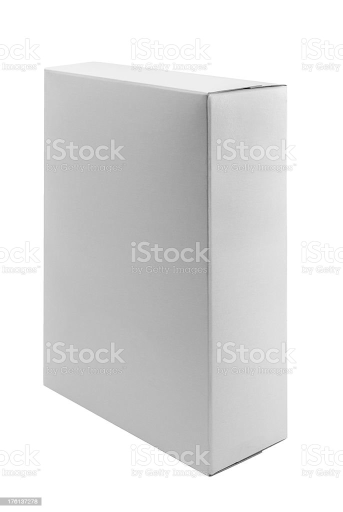White Box - upright tab not showing royalty-free stock photo