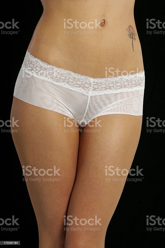 White Boyshort Panty royalty-free stock photo