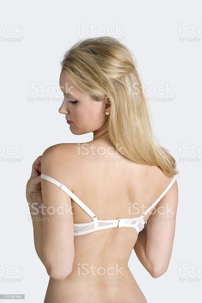 white bra underwear back royalty-free stock photo