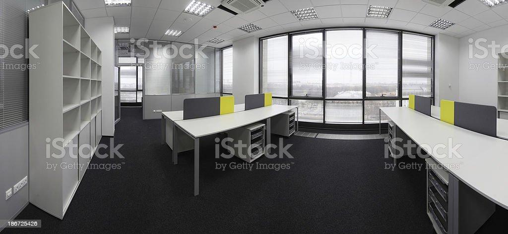 white brand new interior of office stock photo