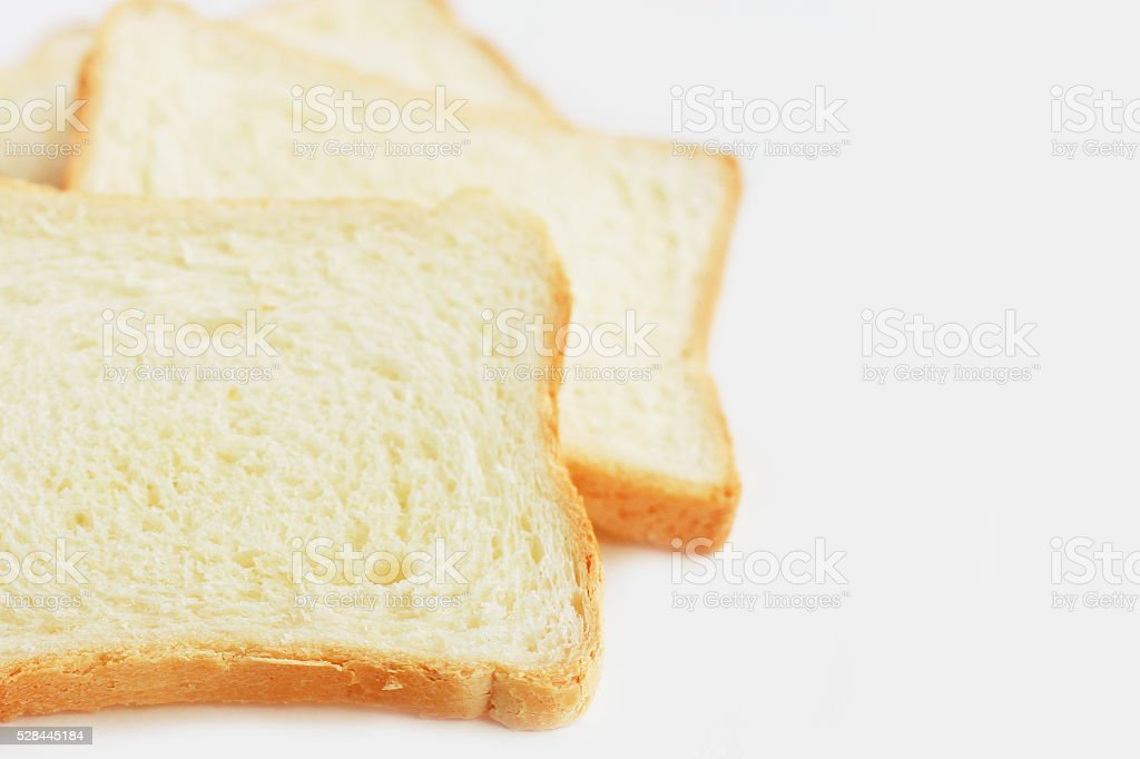 White bread close-up stock photo