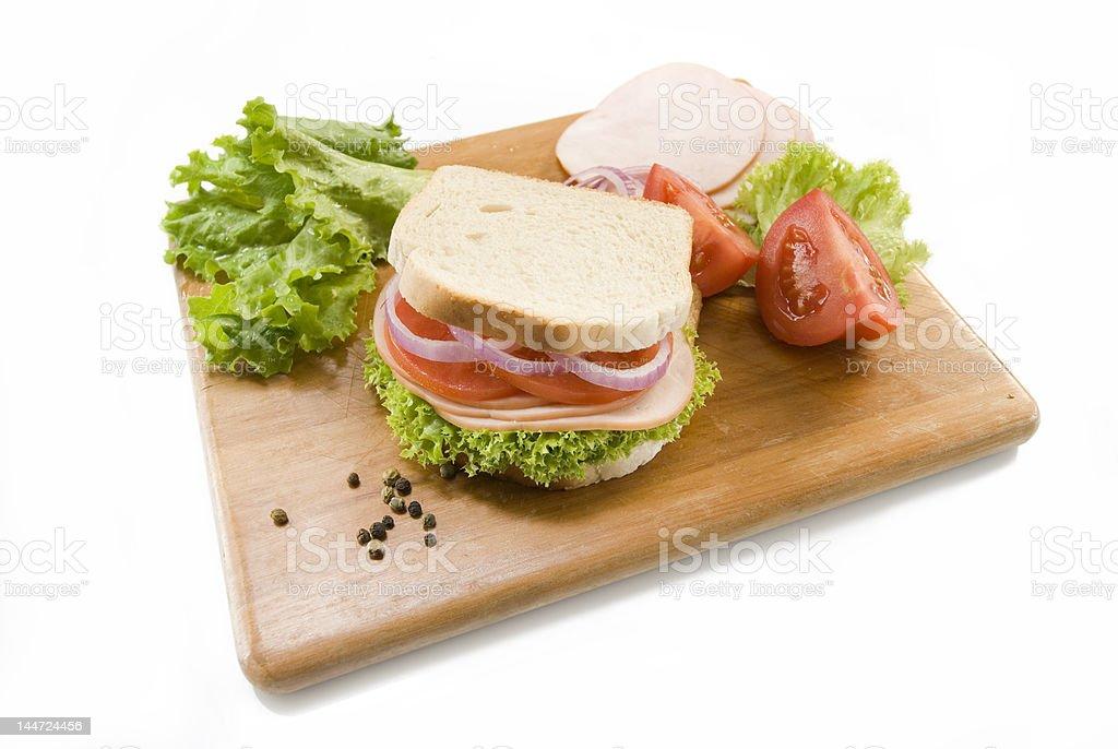 white bread sandwich royalty-free stock photo