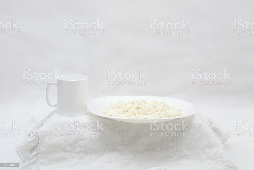 white breakfast royalty-free stock photo