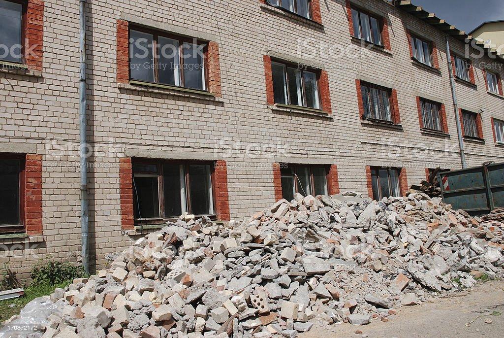 White brick house renovation royalty-free stock photo