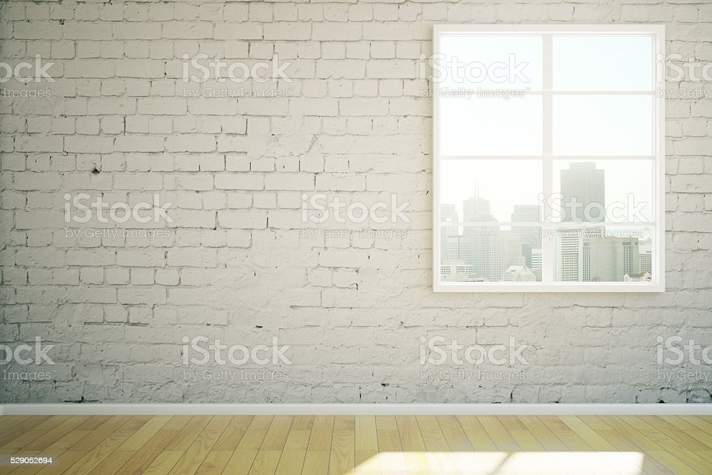 White brick interior stock photo