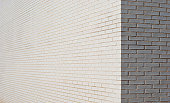 White brick wall corner