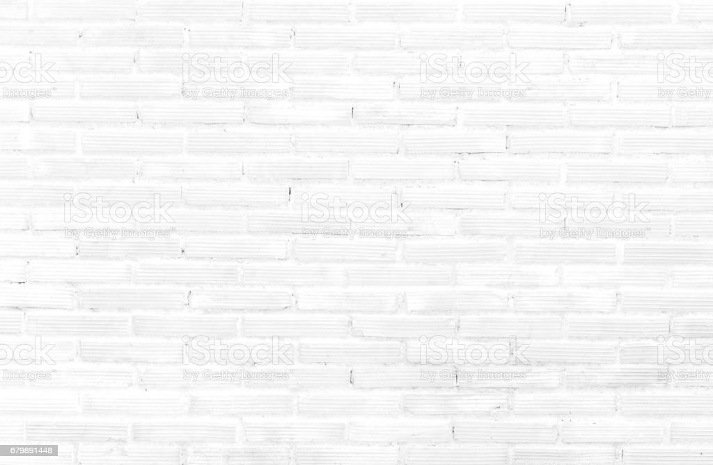 White brick wall pattern background, colorless brick wall stock photo