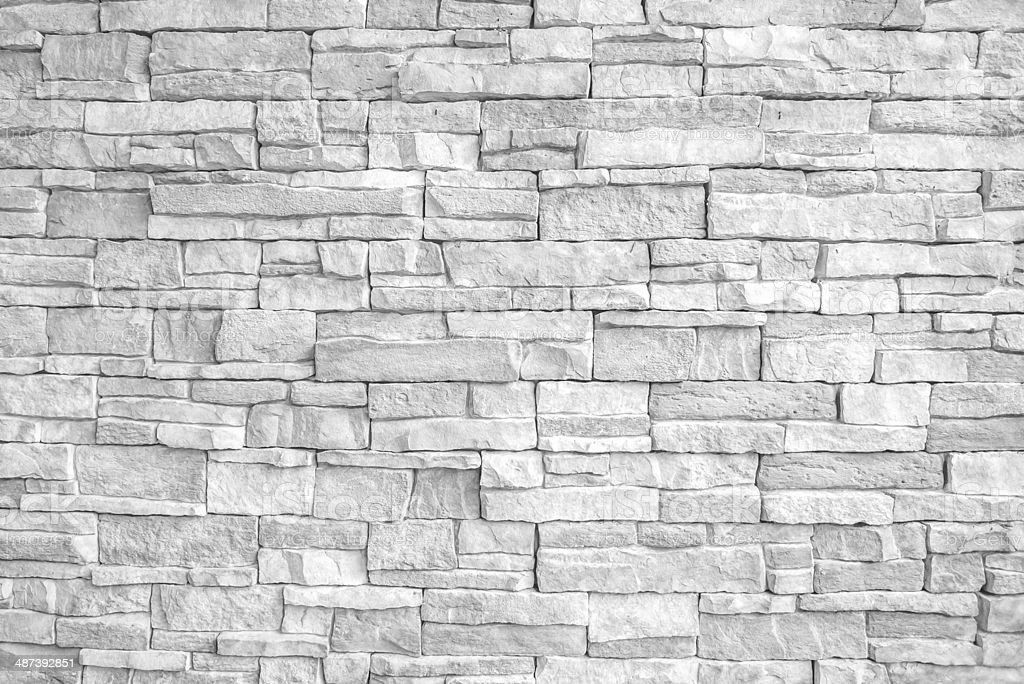 White brick(stone) wall, perfect as a background stock photo