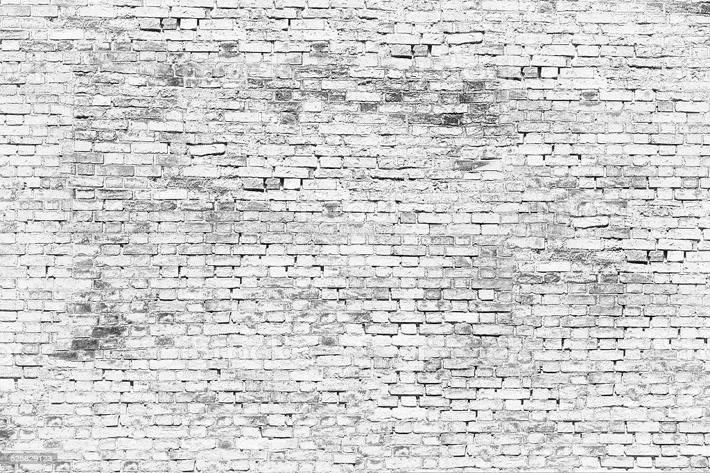 white brick wall stock photo