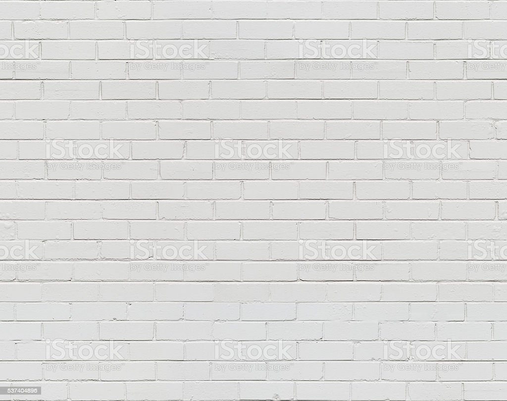 White Brick Wall Seamless stock photo