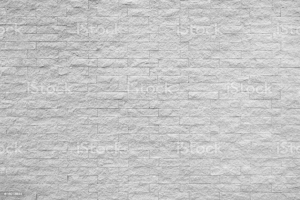 White brick wall texture and background. stock photo