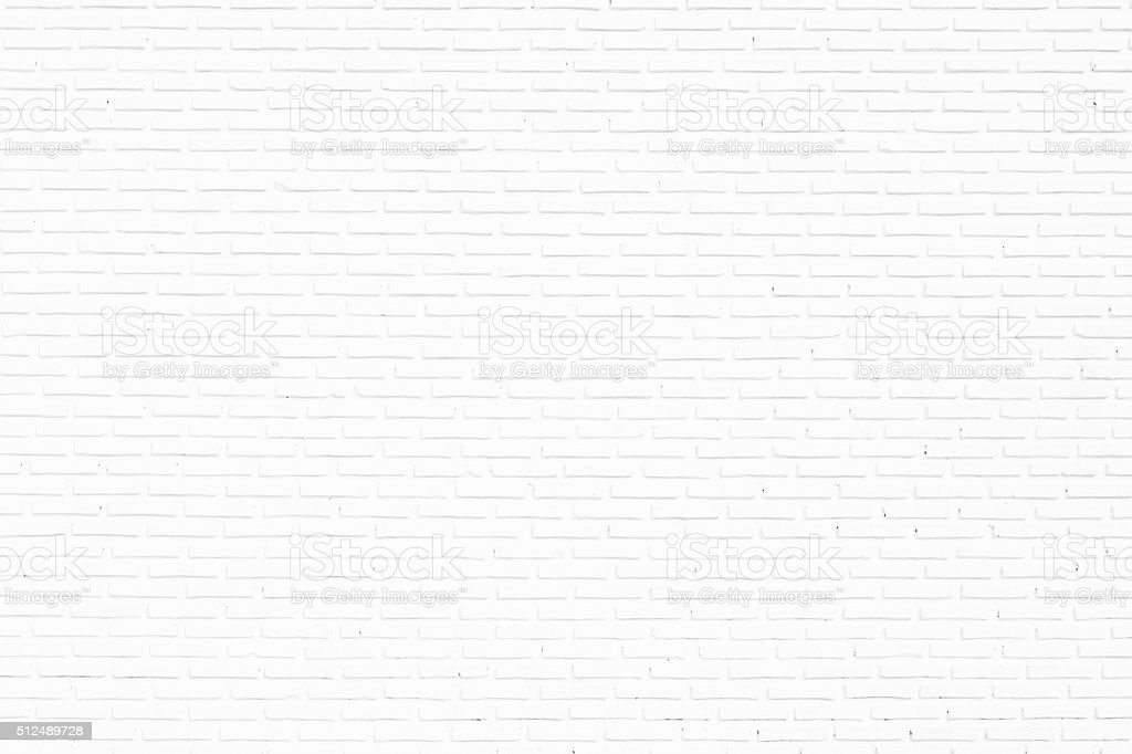 white brick wall texture for background stock photo