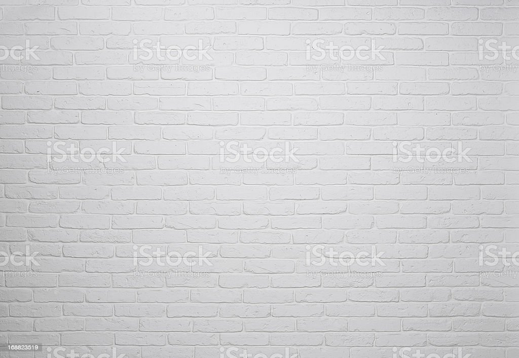 White brick wall texture stock photo