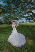 White Bride Dress Fashion