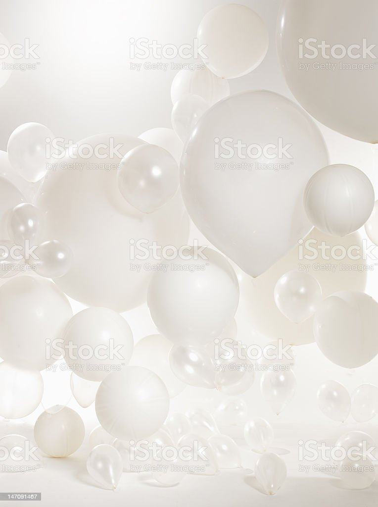 white bright baloons stock photo