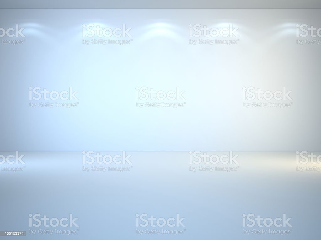 White, brightly lit 3D interior stock photo