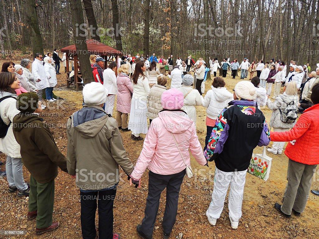 White Brotherhood's spring feast stock photo