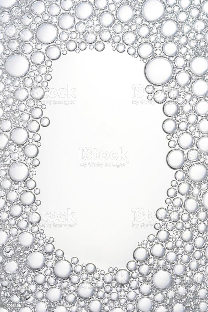 White bubbles background royalty-free stock photo