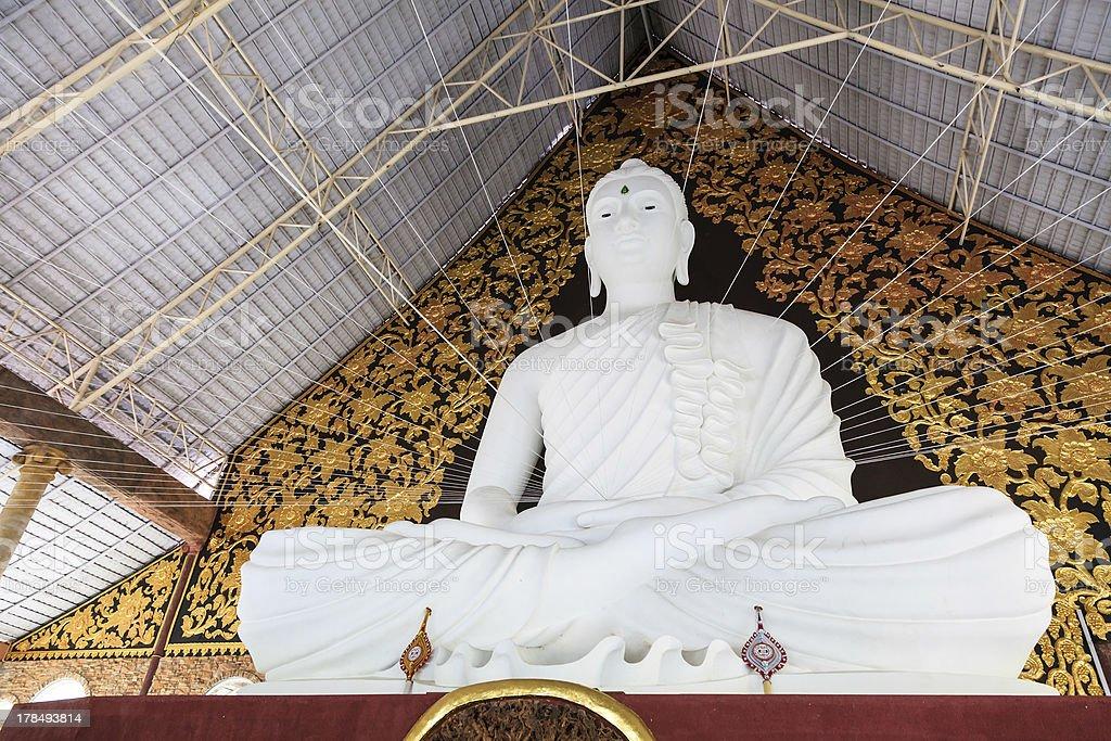 White buddha in phu ruea, Loei province, Thailand royalty-free stock photo