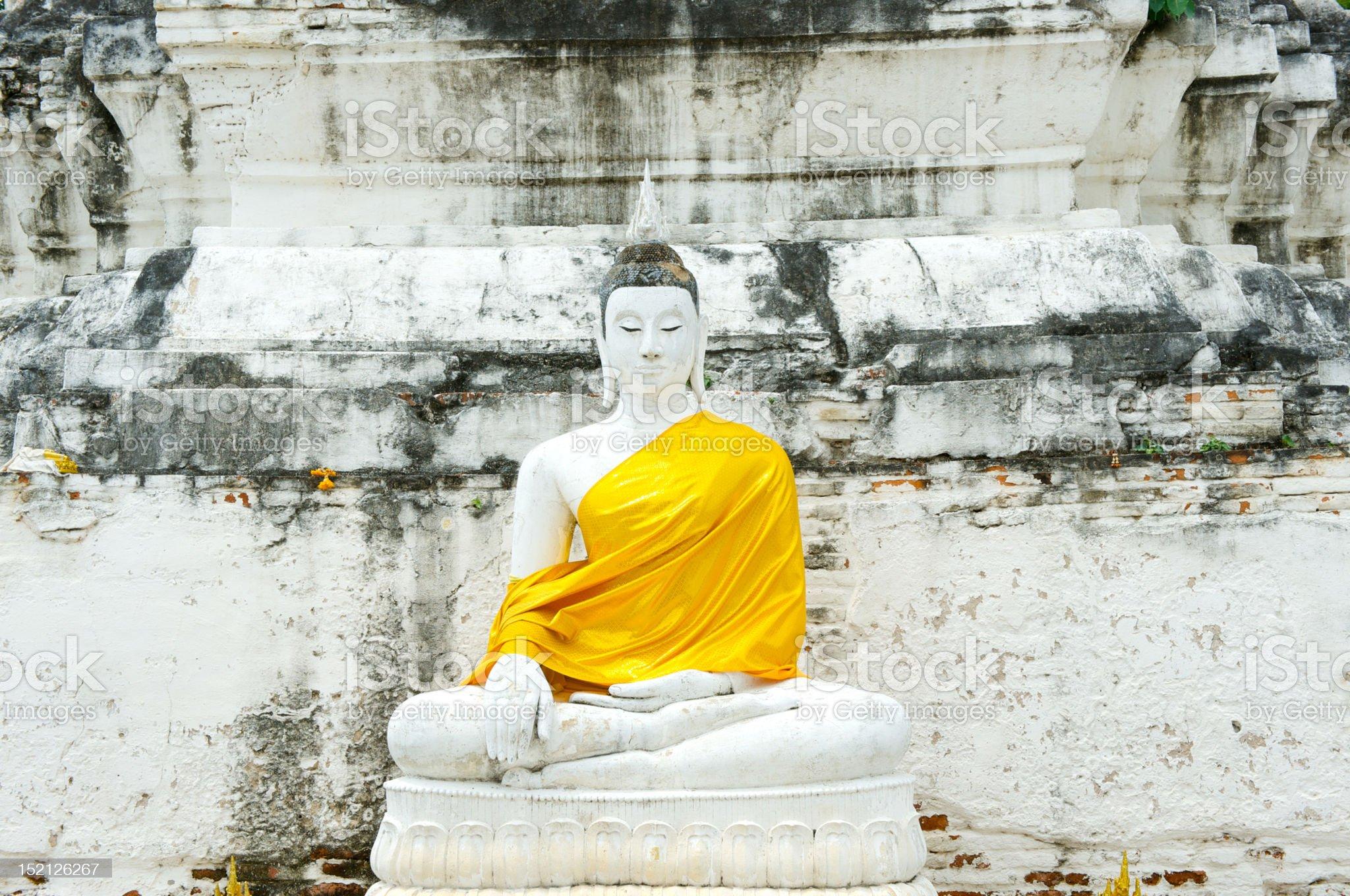 white buddha (1) royalty-free stock photo