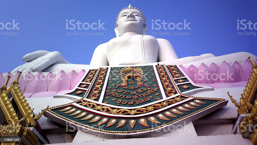 White buddha royalty-free stock photo