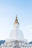 white buddha statue at wat phra thart pha son kaew