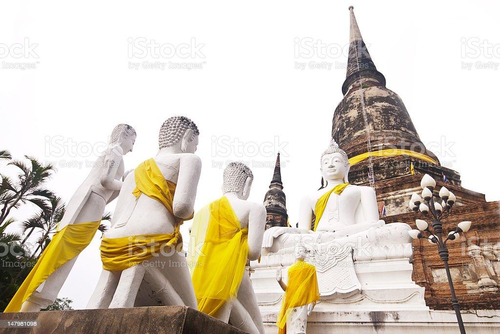 Biały posąg Buddy zbiór zdjęć royalty-free