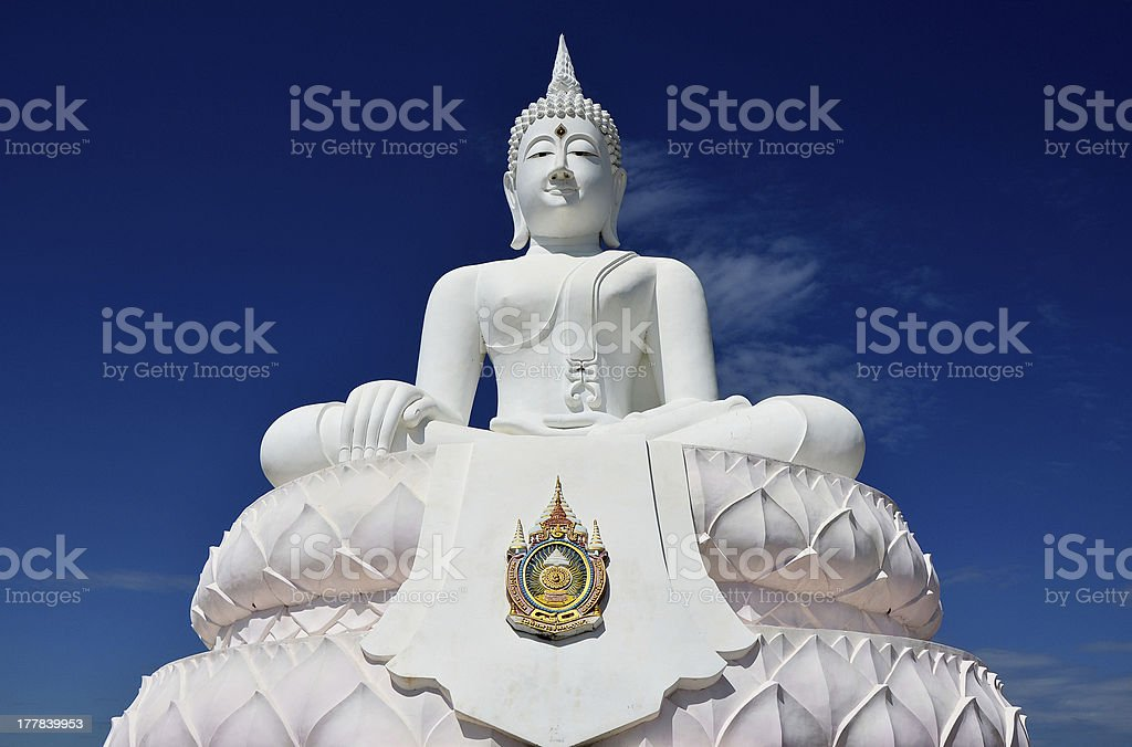 White buddha statue. royalty-free stock photo