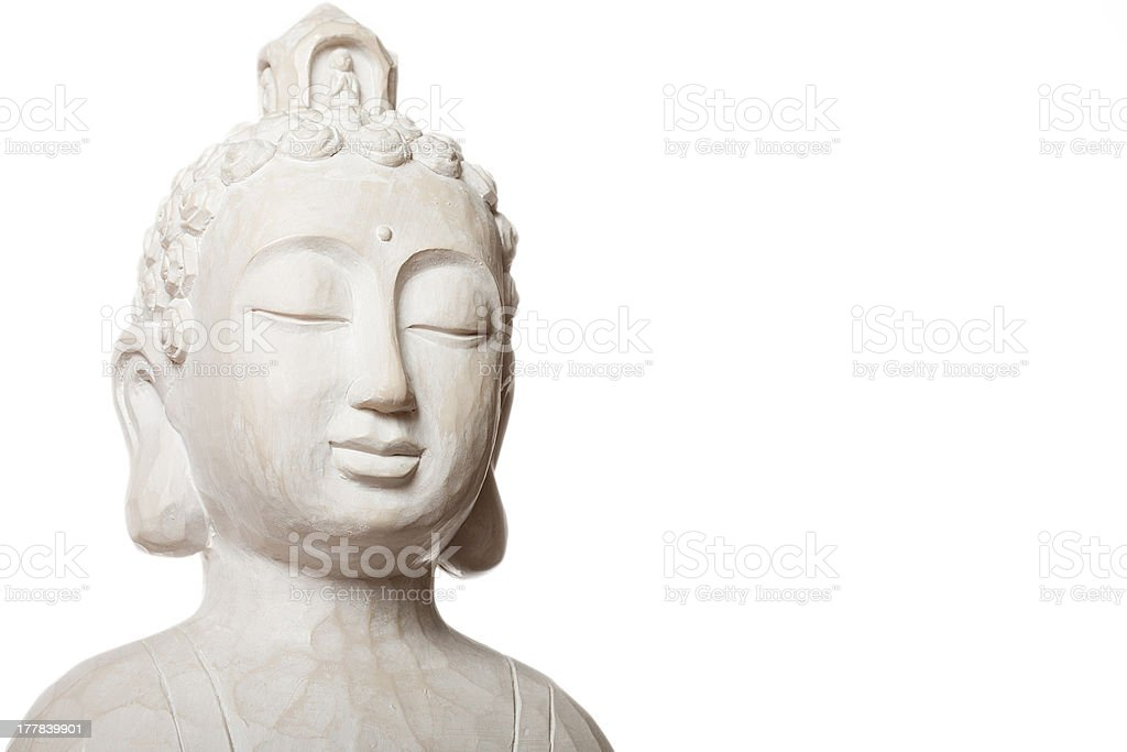 white budha royalty-free stock photo