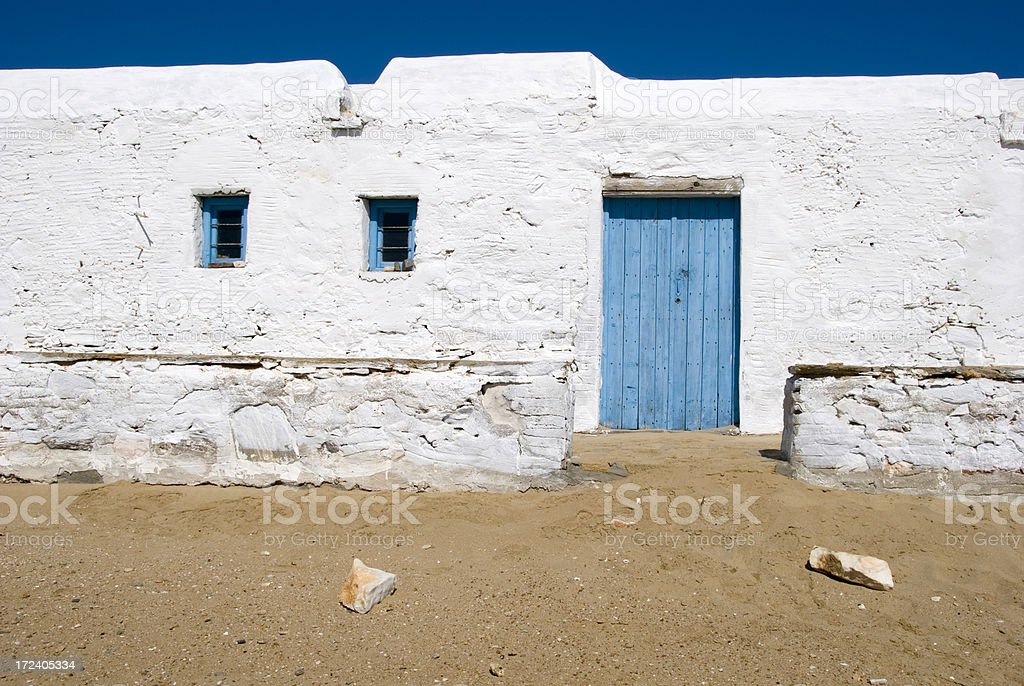 White building against a deep blue sky royalty-free stock photo