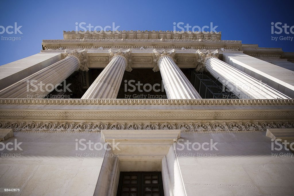 White building with columns royalty-free stock photo