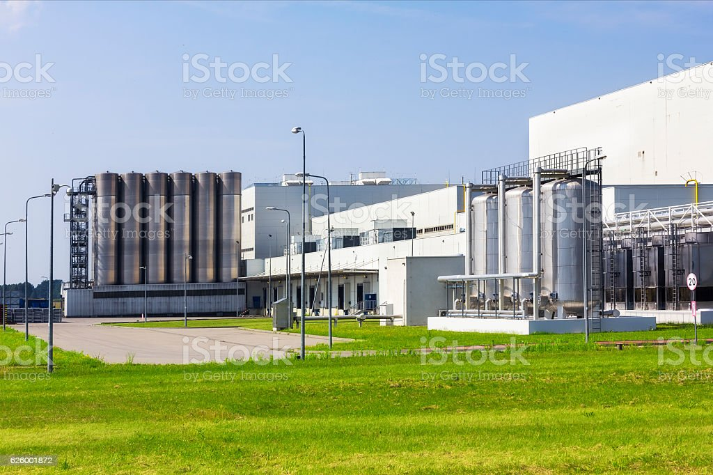 White buildings of modern factory stock photo