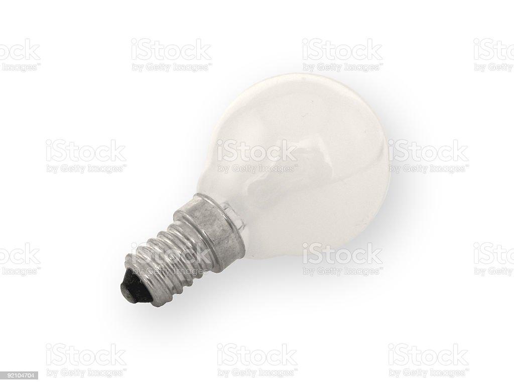 white bulb stock photo